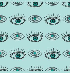 eye blinker seamless pattern vision daylight vector image
