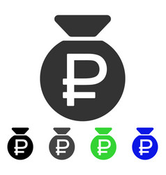 Rouble fund flat icon vector