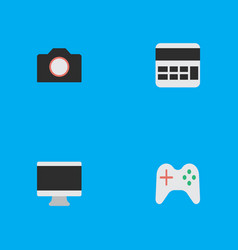 set of simple devices icons vector image