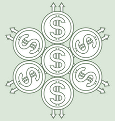 coins sacred pattern vector image