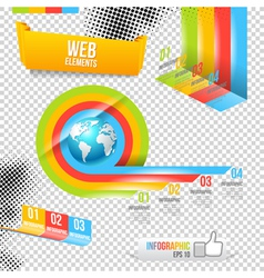 Modern design template with world map vector
