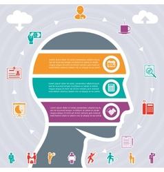 human head variety of tasks vector image