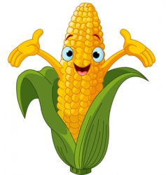corn cartoon character  vector image