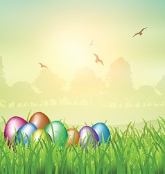 Easter egg backgroubnd vector image