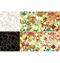 Set of abstract colored backgrounds square design vector