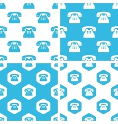 Telephone patterns set vector