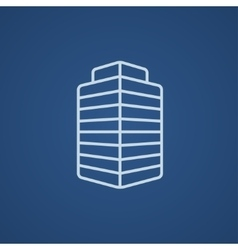 Office building line icon vector