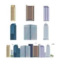 Office city building downtown landscape skyline vector