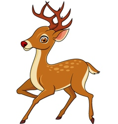 Cute deer cartoon vector