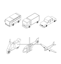 Isometric transport set vector