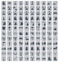 Set of tourism icons vector