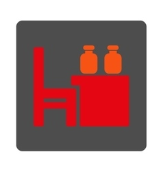 Apothecary dataset rounded square button vector