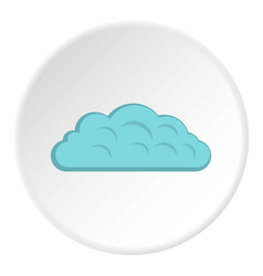 Autumn cloud icon circle vector