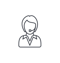 Avatar businesswoman thin line icon linear vector