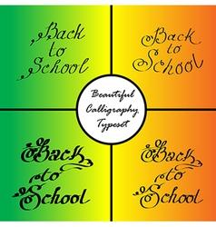 Back to school 2 vector
