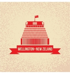 Beehive - the symbol of Wellington New Zeland vector image vector image