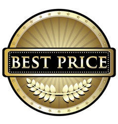 Best Price Gold Label vector image vector image