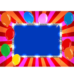 Billboard with balloons vector image vector image