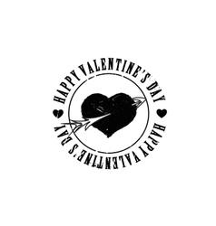 Black grunge heart arrow shape vector image