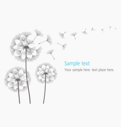Dandelion blowing silhouette vector