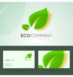 Ecological company logo design vector image vector image