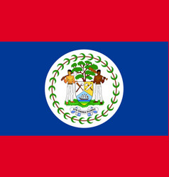 flag belize flat icon vector image vector image