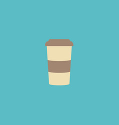 flat icon cappuccino to go element vector image vector image