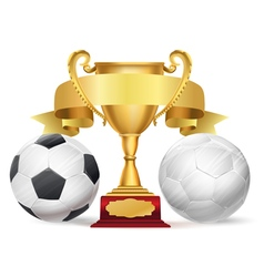 Football trophy vector