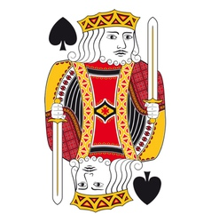 King of spades no card vector image vector image