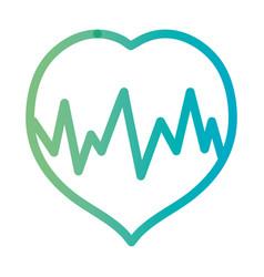 Line heartbeat medical frequency cardiam rhythm vector