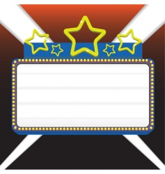 marquee sign vector image vector image