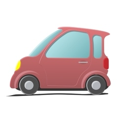 Mini car Single cartoon symbol vector image vector image