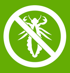 no louse sign icon green vector image