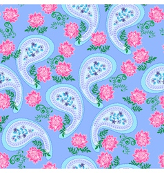paisley with pink flowers vector image vector image