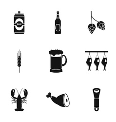 Pub icons set simple style vector