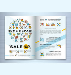 repair house brochure renovation home template vector image
