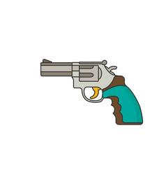 revolver flat vector image