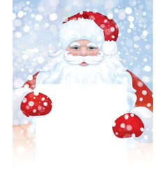 Santa blank snowfall vector