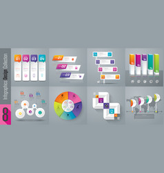 set of infographics design vector image