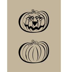 Simple pumpkins vector image