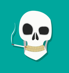 Smoker skull icon vector