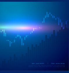 stock market candle stick graph chart with high vector image