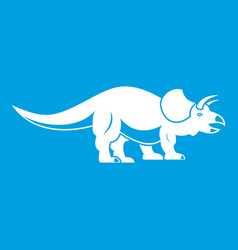 styracosaurus icon white vector image