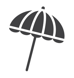 Sun umbrella solid icon travel tourism parasol vector