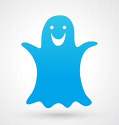 Halloween ghost icon vector