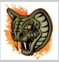 Cobra head mascot - vector