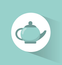 Kettle pot coffee porcelain vector
