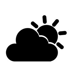 cloudy weather isolated icon vector image