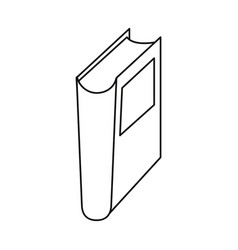 Book library read learn thin line vector
