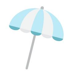 Sun umbrella flat icon travel tourism parasol vector
